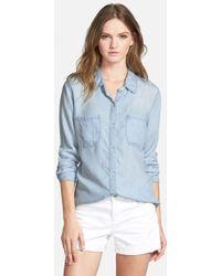 Rails - 'Carter' Chambray Shirt - Lyst
