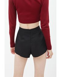 Forever 21 Pleated Woven Shorts - Lyst