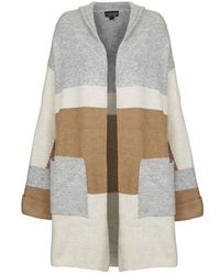 TOPSHOP - Hooded Colour-Block Cardigan - Lyst