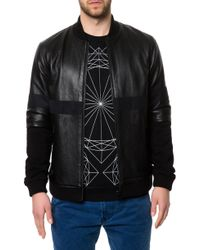 Black Scale The Leather Zip Up Jacket - Lyst