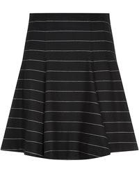 Alice + Olivia Pharl Stripe Flare Skirt - Lyst