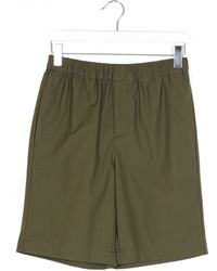 MSGM Green Mix Poplin Cotton Shorts green - Lyst