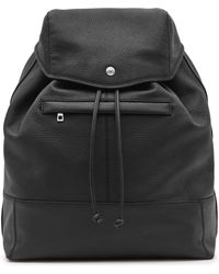 Reiss - Bash Grained Leather Backpack - Lyst