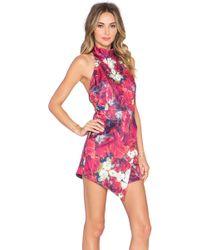 Ringuet Hayden Printed Romper Dress - Pink