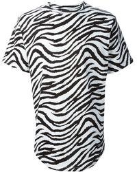 Les (art)ists Jacobs 63 Zebra Print Football T-shirt - Lyst