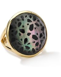 Ippolita 18k Gold Polished Rock Candy Round Cutout Doublet Ring - Lyst