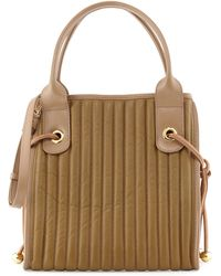 See By Chloé Sheen Quilted Leather Tote Bag Military - Lyst