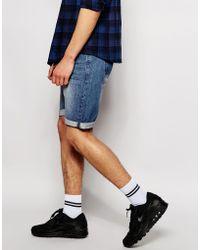 D-Struct Denim Shorts - Blue
