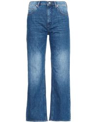 See By Chloé Wide-Leg Mid-Rise Cropped Jeans - Lyst