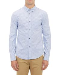 Band of Outsiders Stripe & Dash-Pattern Dobby Shirt - Lyst