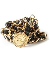 Chanel Woven Chain Belt - Lyst