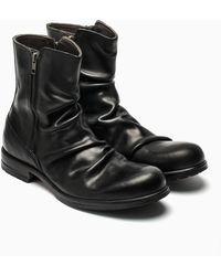 Shoto Black Zip Boots - Lyst