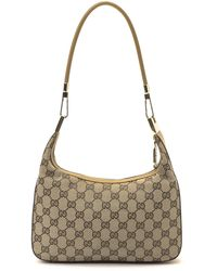 Gucci Beige Gg Canvas Shoulder Bag beige - Lyst
