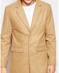 Another Influence - Wool Blend Contrast Overcoat - Lyst