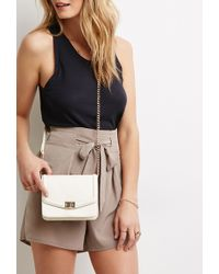 Forever 21 Chained Faux Leather Crossbody - Lyst