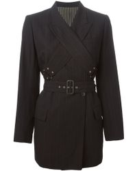 Jean Paul Gaultier 'Les Rabbis' Double Breasted Jacket black - Lyst