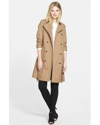 Eileen Fisher The Fisher Project Long Classic Collar Double Breasted Coat - Lyst