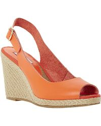 Dune Gleeful Peep Toe Sling Back Espadrilles - For Women - Lyst