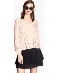 H&M Blouse With Lace - Lyst