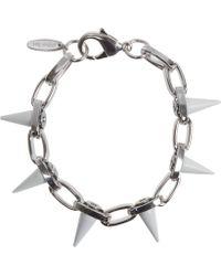 Joomi Lim - White Spike Single Row Bracelet - Lyst
