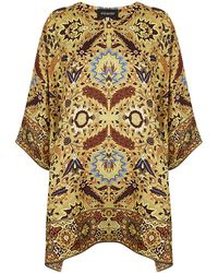 Eskandar Mughal Garden Carpet Tunic Top - Lyst