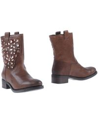 Lola Cruz Brown Ankle Boots - Lyst