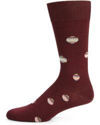 Paul Smith Striped Dot-Print Socks - Lyst