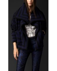Burberry Knitted Blanket Jacket - Lyst