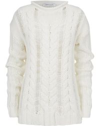 Pierre Balmain Oversized Cable Knit Jumper - Lyst