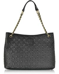 Tory Burch - Marion Quilted Chain Shoulder Slouchy Tote Bag - Lyst