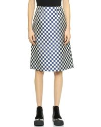 Marc By Marc Jacobs Checkerboard Jacquard Skirt - Deep Blue Multi - Lyst