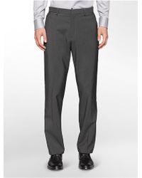 Calvin Klein Straight Fit Grey Dress Pants - Lyst