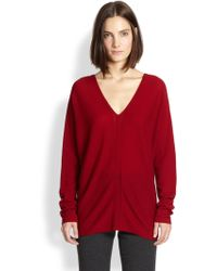 Vince Cashmere Ladder-Stitched Sweater - Lyst