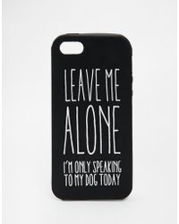 Asos Leave Me Alone Jelly Iphone 5 Case - Lyst