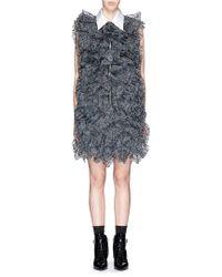 Nicopanda Layered Panda Embroidery Lace Dress gray - Lyst
