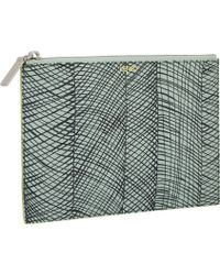 Kenzo Abstract Zip Pouch - Lyst