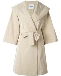 Moschino Cheap & Chic Belted Trench Coat - Lyst