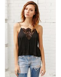 Kimchi Blue Plunging Lace Cami - Lyst