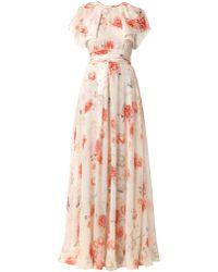 Giambattista Valli Floral-Print Silk-Georgette Gown - Lyst
