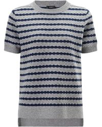 Joseph Cashmere Sailor Tee In Greychine - Lyst