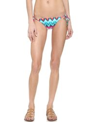 Cm Cia Maritima | Maia Tie Side Ruffle Bikini Bottoms - Green | Lyst