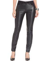 DKNY Ave B Skinny Faux Leather Leggings - Lyst