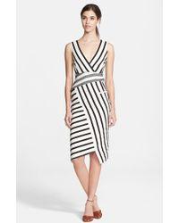 Altuzarra 'Jessica' Stripe V-Neck Dress - Lyst