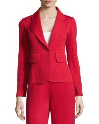 St. John Single-Button Knit Jacket - Lyst