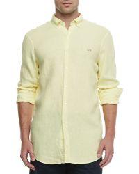 Lacoste Classicfit Linen Shirt - Lyst