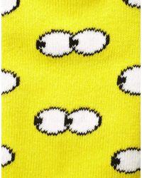 Lazy Oaf - Peep Toe Tube Socks in Yellow - Lyst