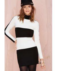 Nasty Gal Stripe Up Dress black - Lyst