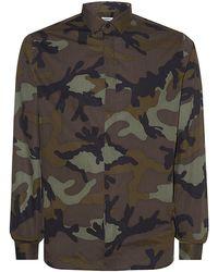 Valentino Camo Print Shirt - Lyst