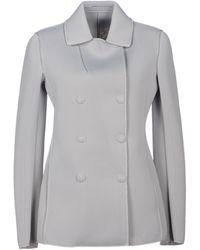 Emporio Armani Jacket gray - Lyst