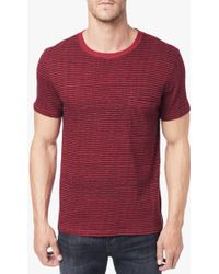 7 For All Mankind Short Sleeve Striped Crew - Lyst